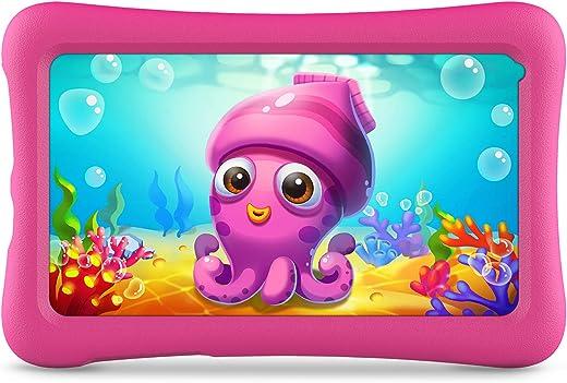 VANKYO Z1 Tablet per Bambini 7 Pollici 32GB ROM, Android 10 IPS HD Display WiFi Bluetooth Kidoz Preinstallato con Kid-Proof Custodia (Rosa)
