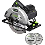 GALAX PRO 10 A 5800 RPM Hand-Held Circular Saw, Bevel Angle(0 to 45°) Joint Cuts with 7-1/4 Inch Blade, Adjustable Cutting De