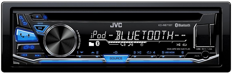 A2DP schwarz JVC KD-R871BT Autoradio USB//CD-Receiver mit Bluetooth inkl