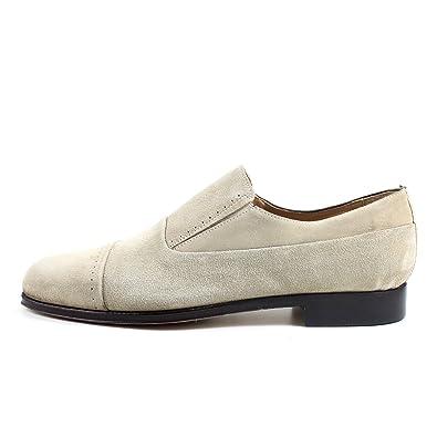 1fae6462d050 GIORGIO REA Chaussures Homme Beige Mocassins Mâle Main Italiennes ...