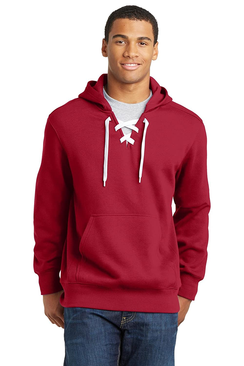 Joe's USA Mens Lace up Pullover Hooded Sweatshirts in Sizes XS-4XL