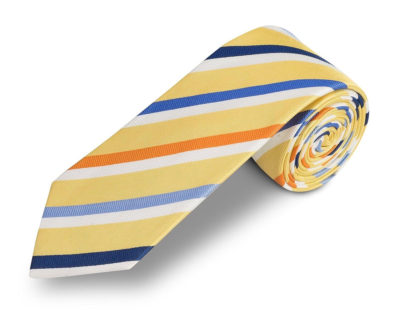 corbata azul y amarillo - corbatas de hombre - corbata amarilla ...