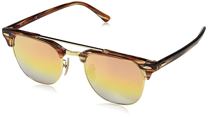 024e43c21 RAYBAN JUNIOR Unisex's 0RB3816 1237I1 51 Sunglasses, Gold /Greenmirrorgoldgradientpin