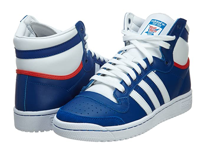 Amazon.com   adidas Top Ten Hi Men\u0027s Shoes Royal/White/Red M20716 (SIZE:  12)   Shoes