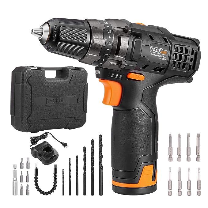 Tacklife PCD01B 12v Drill Under $50