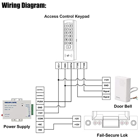entry chime wiring diagrams wiring diagramamazon com uhppote 12vdc wired doorbell chime for access controlamazon com uhppote 12vdc wired doorbell chime