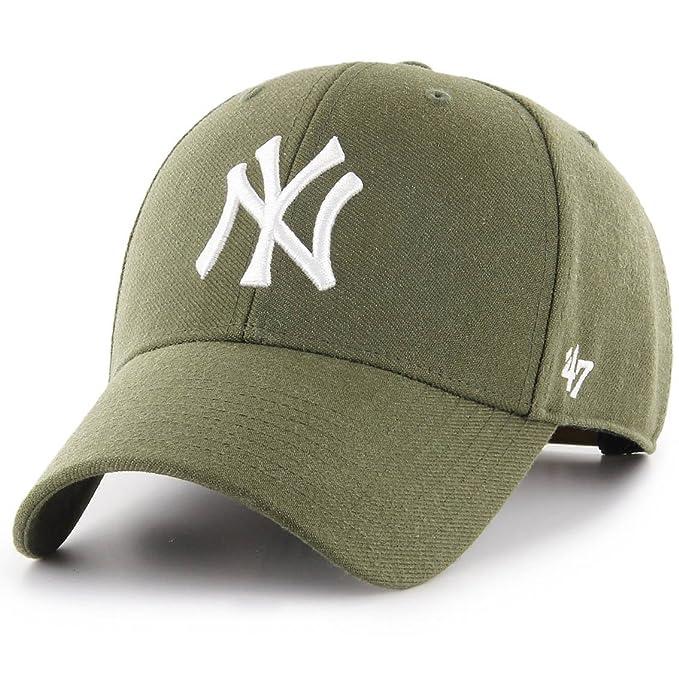 47 Brand Cappellino MLB New York Yankees MVP Curved V Struct Fit Verde OSFA  (Formato de49ef79f703