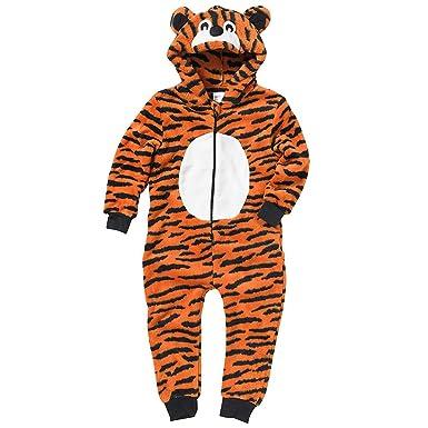 67301926191d Animal Crazy Boys Supersoft Tiger Onesie Jumpsuit Playsuit - Orange ...