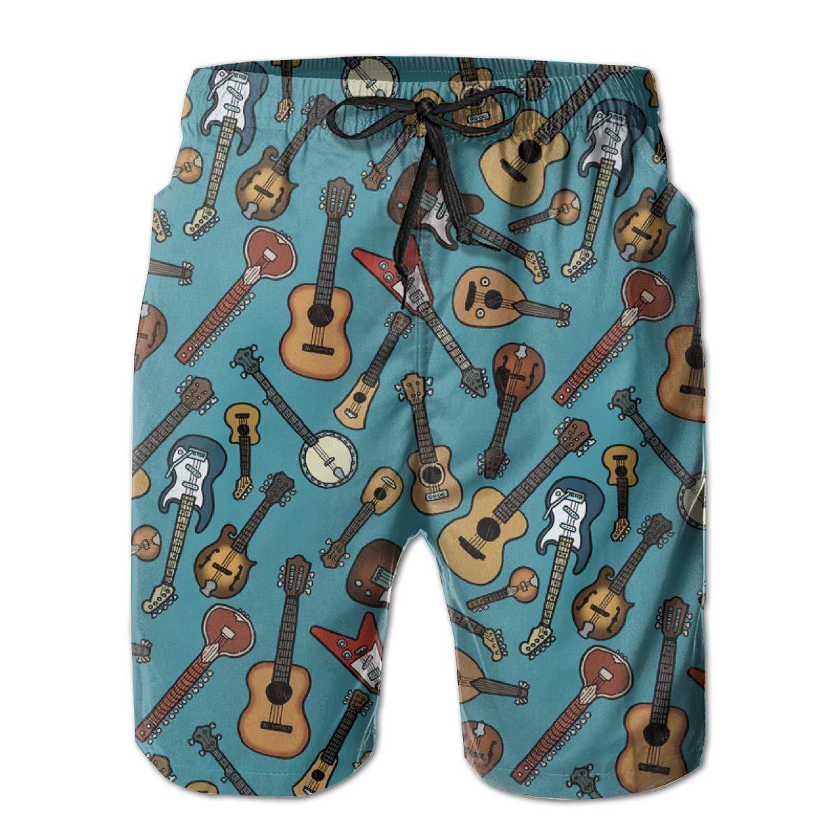 Perfect Summer Beach Swimsuit YongColer Men Drawstring Elastic Waist Swim Trunks