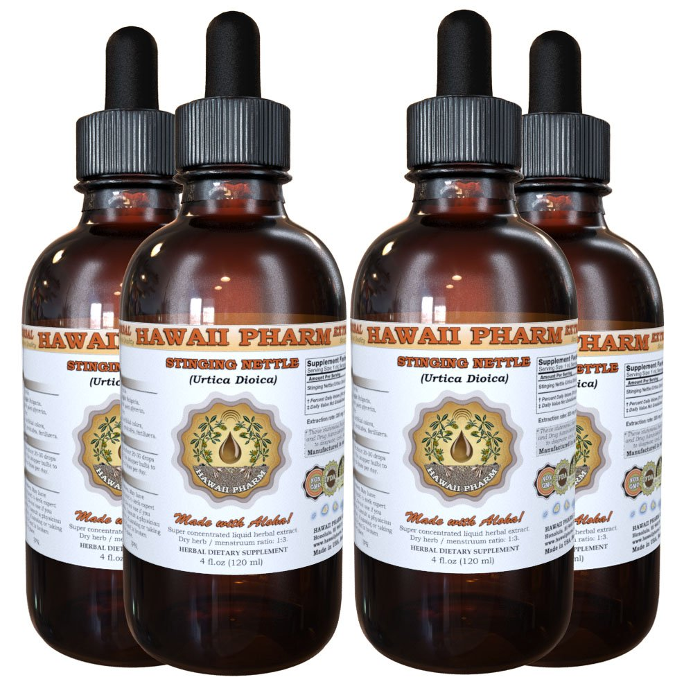 Stinging Nettle (Urtica Dioica) Organic Dried Root Liquid Extract 4x4oz