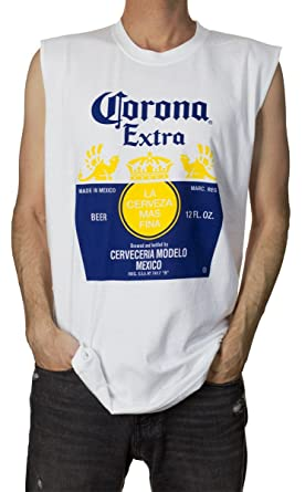 fa2745c69ca675 Official Corona Extra Bottle Label Mens Sleeveless T-Shirt White at ...