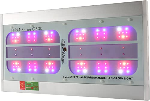 LED Grow Lights GROWant G5 HiPAR Seires OSRAM Full Spectrum with UV IR for Indoor Plants Veg and Flowering 800Watt, White