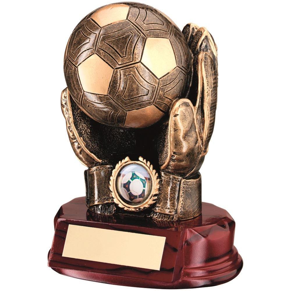 1in Centre 7/en BRZ//or R/ésine Football gardien de but Balle en mains/» Trophy/ /