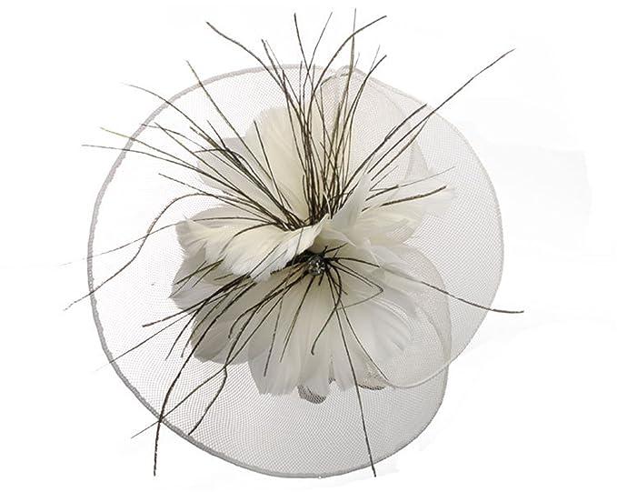 Beverly Stewart 2018 Cheap Bride Hat Wedding Wedfing Fancinetor Bridal Hat Hair Pin Feather Flower Accessories