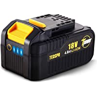 TECCPO Batería 18V Recargable de Ion de Litio