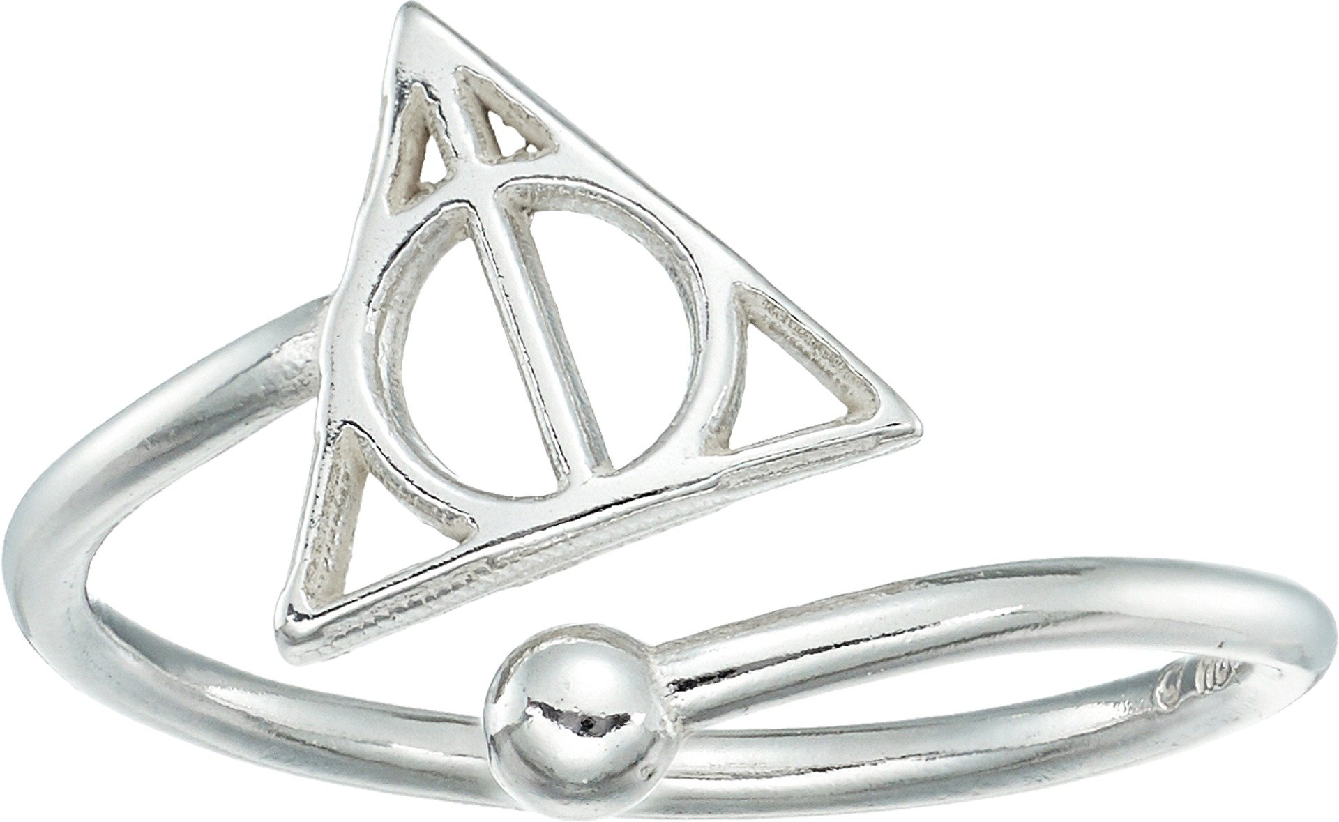 Alex and Ani Women's Harry Potter Deathly Hallows Ring Wrap Sterling Silver One Size