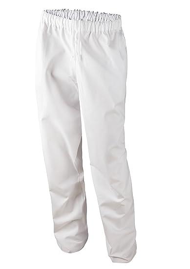 CHICTRY Damen OP Hose Schlupfhose Schwesternhose Uniformen Pflegerhose Weiß Baumwolle Medizin Arbeitshosen mit Kordelzug Medi Hose S XXL