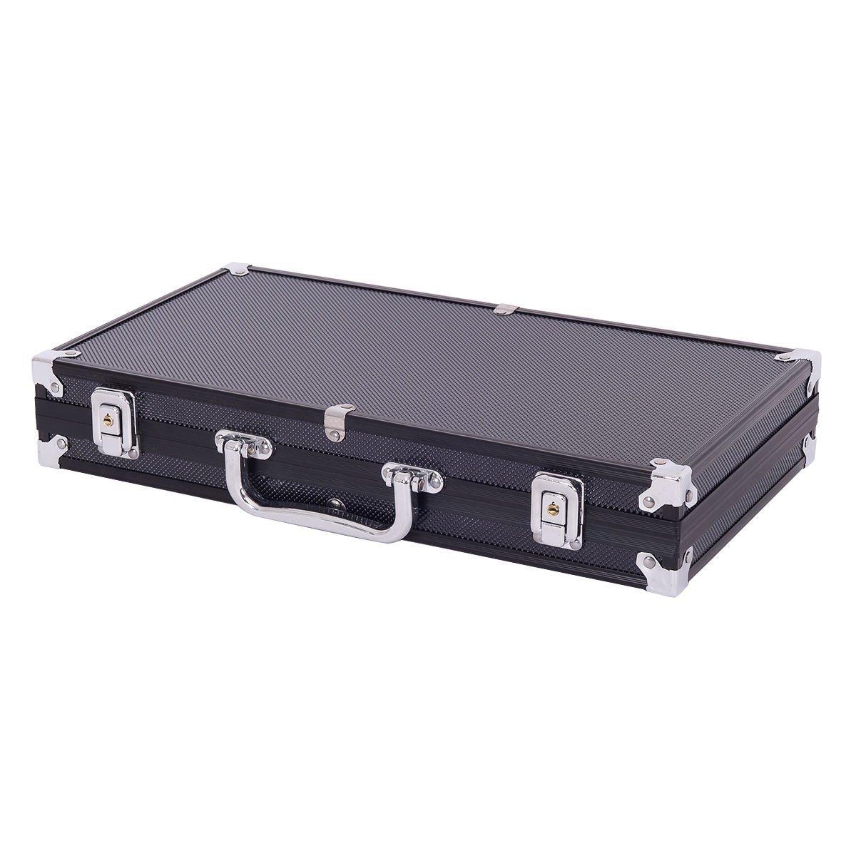 Comprar Display4top Juego de póquercon 300 Chips Láser 12 Gramos Núcleo de Metal, 2 Barajas de Cartas, Distribuidor, ciega pequeña, Big Blind Buttons y 5 Dados (300 Chips)