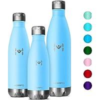 HOMPO Bottiglia Acqua in Acciaio Inox - 350/500/ 750ml, Borraccia Termica Isolamento Sottovuoto a Doppia Parete,Privo di BPA & Leakproof,Borracce per Bambini, Bici, Palestra