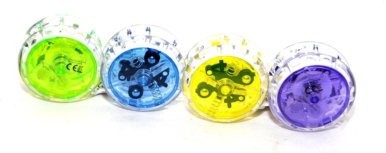 Jojo mit LED Lichteffekt 6 cm Spiel Spiele Seil Tombola Mitgebsel Give away Großhandel & Sonderposten Business & Industrie