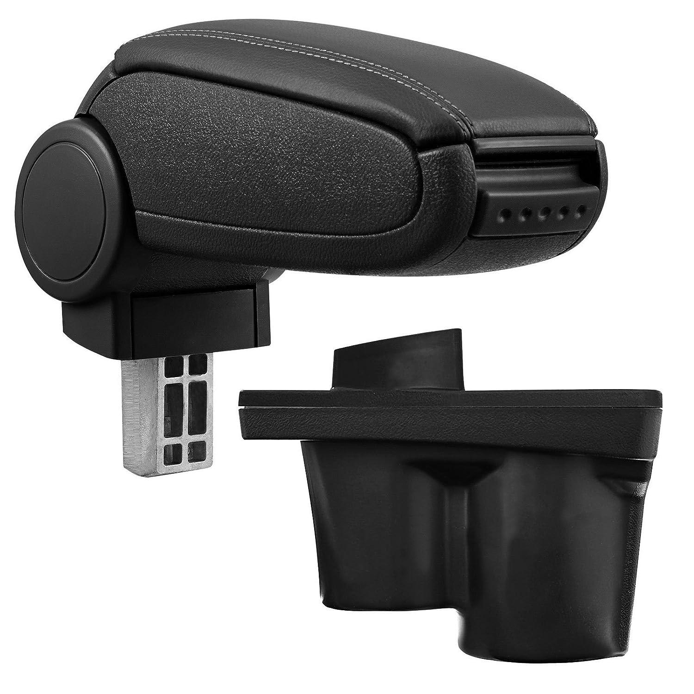 Mittelarmlehne Farbe: SCHWARZ Mittel-Armlehne mit klappbarem staufach Mittel-konsole Leder Fahrzeugspezifisch
