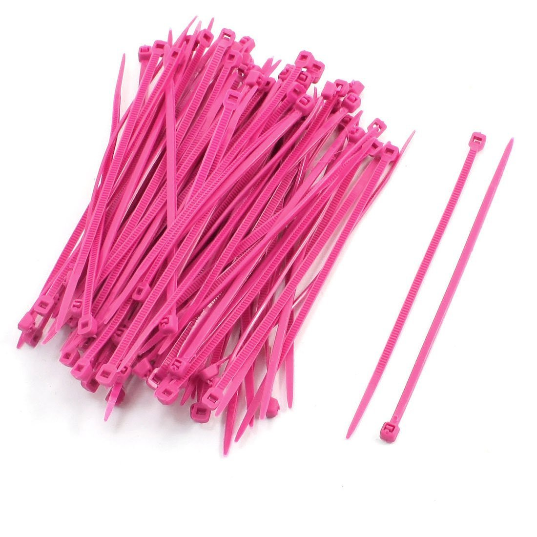 Ltd // Uxcell a13092700ux0100 Uxcell Plastic Self-locking Teeth Marker Label Cable Ties 100Pcs Magenta Dragonmarts Co