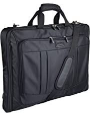 Foldable Carry On Garment Bag Fit 3 Suits, 40 inch Suit Bag for Travel and Business Trips with Shoulder Strap