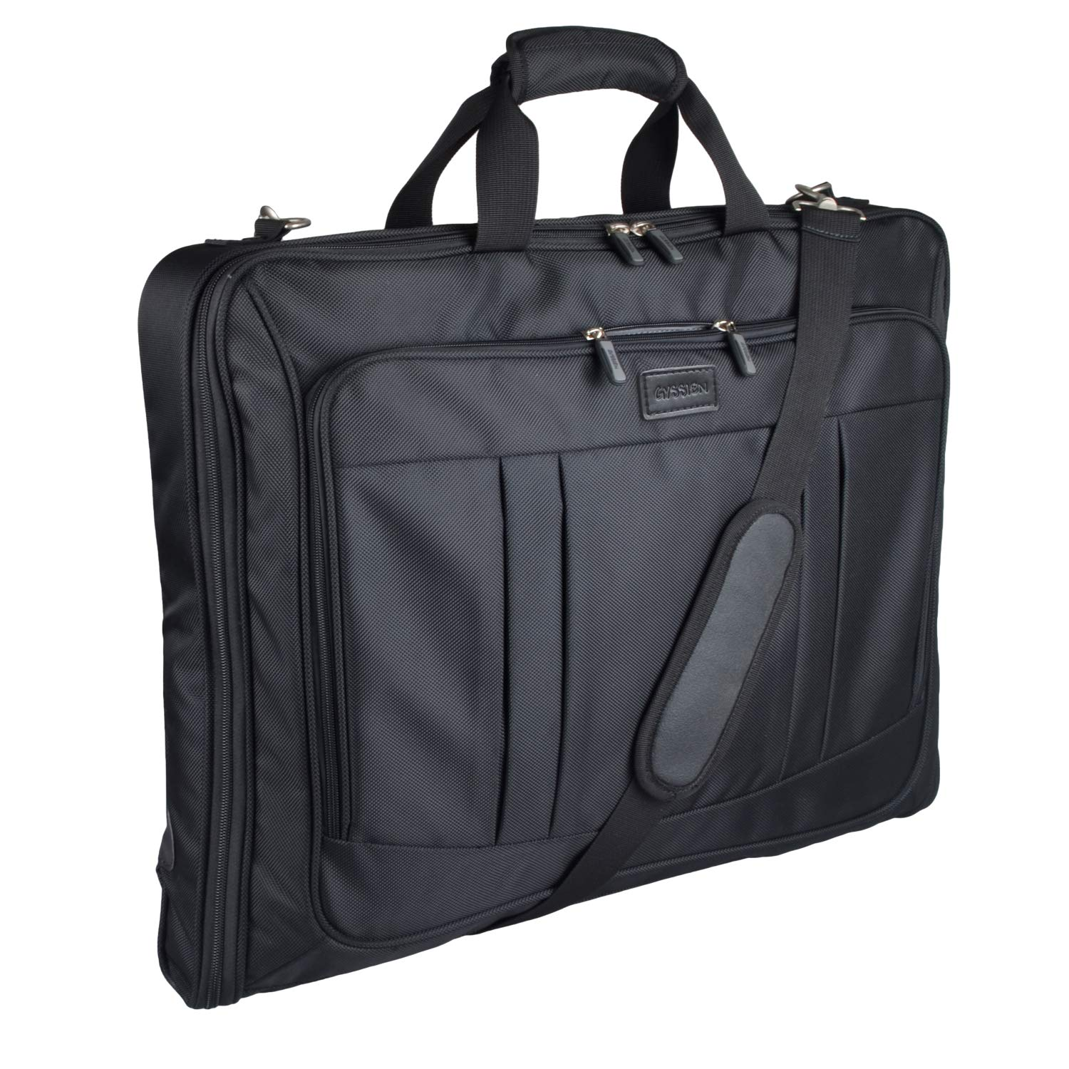Foldable Carry On Garment Bag Fit 3 Suits, 44,inch Suit Bag for Travel and  Business Trips with Shoulder Strap