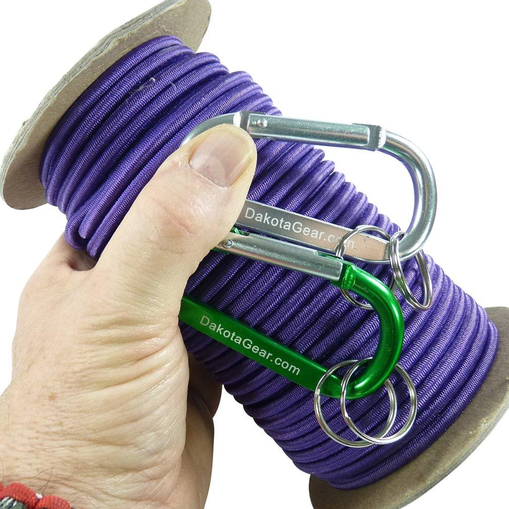 本物 ショックコード マリングレード spool 米国製カラビナ2つつき付き直径1/8 x 3/16 1/4インチ 25 1/4 50 100フィート 6色。バンジーコード、ストレッチコード、エラスティックコードとも呼ばれます。 B018V82GBS Jewel of Egypt Purple 1/4 inch x 50 feet spool, S-punky(スパンキー):d8ea3ca9 --- a0267596.xsph.ru
