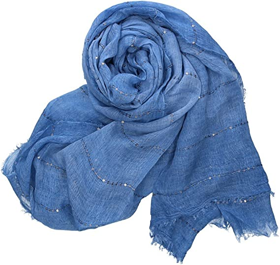Foulard mujer PIERRE CARDIN azul bufanda estola box regalo 100 ...