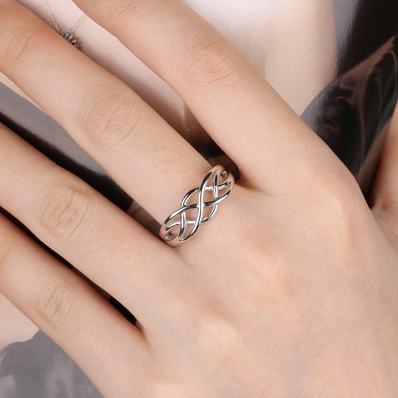 GULICX 925 Sterling Silver Celtic Everlasting Love Knot Filigree