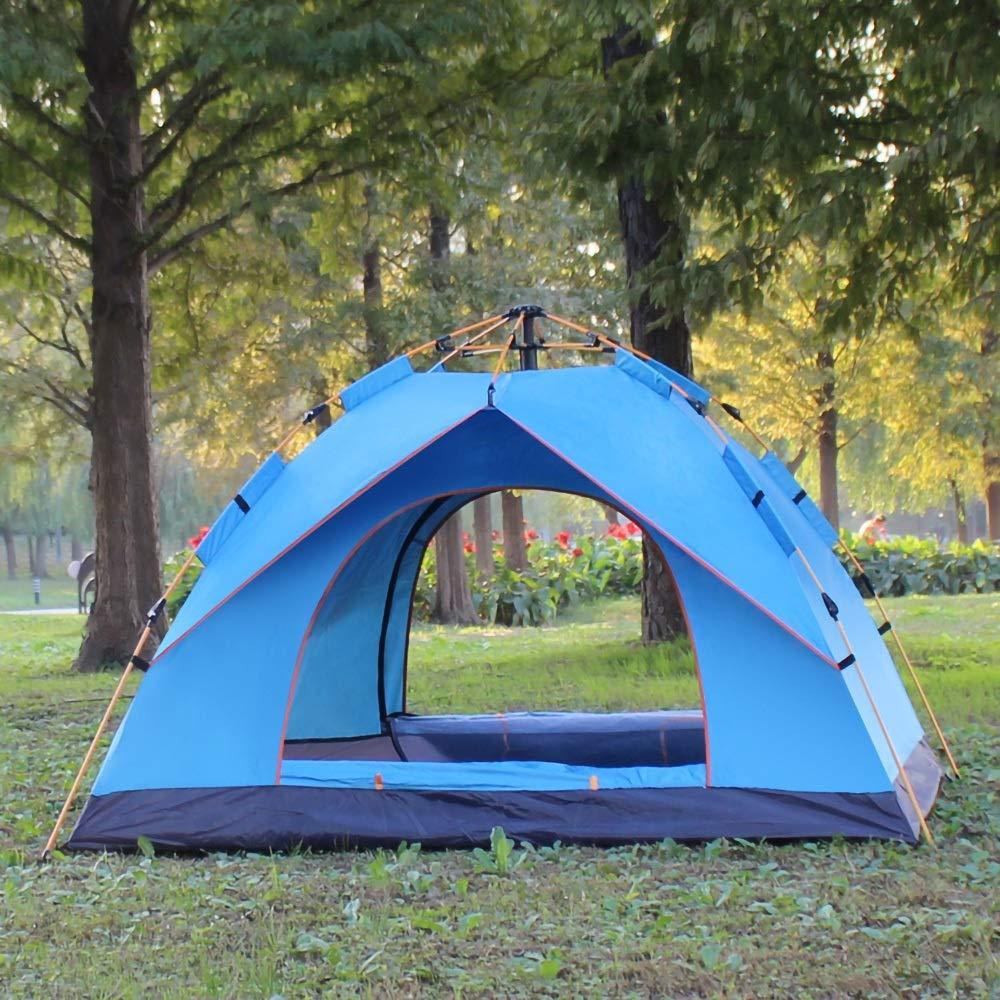 Dobetter ポップアップテントワンタッチテント防水クイックオープンテント2-3人用キャンプテントバックパックテント自動インスタントポップアップテント屋外スポーツキャンプハイキングアウトドアアクティビティビーチ、アウトドア、旅行に最適 (Color : Blue)  Blue B07QWGMQYQ