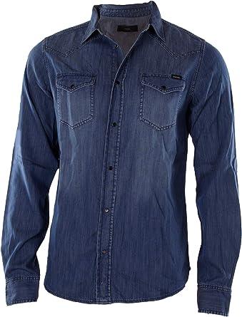 Diesel New-Sonora Camisa Vaquera Hombre (XL, Azul (RWAKQ)): Amazon.es: Ropa y accesorios