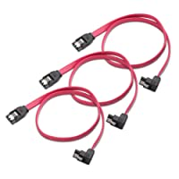 Cable Matters (3 Pack) 90 Degree Right-Angle 6.0 Gbps SATA III Cable - 18 Inches