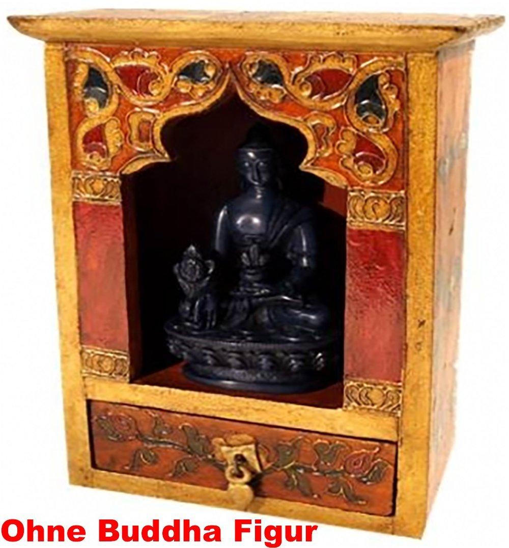 Reise Altar mit mit mit Schublade aus Holz Handbemalt Größe 16,5x22x14cm 0fcabf