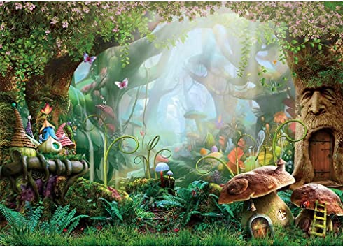 Amazon Com Allenjoy 7x5ft Spring Cartoon Fairy Tale Mushroom Enchanted Forest Wonderland Photography Backdrop Children Kids Fancy Birthday Party Decor Newborn Baby Shower Fantasy Backgrounds Studio Photo Booth Camera Photo