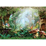 Allenjoy 7X5ft Spring Cartoon Fairy Tale Mushroom Enchanted Forest Wonderland Photography Backdrop Children Kids Fancy…