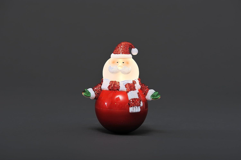 Konstsmide 4455-000 LED Wippfigur Weihnachtsmann 12cm H 3xAAA 1.5V Batterien 1 warm wei/ße Diode