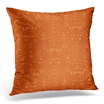 Amazon Com Emvency Throw Pillow Cover Vintage Deep Burnt Orange