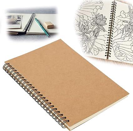 falllea 1 Piezas de Bloc de Notas Espiral A5 Cuaderno de notas Tapa Blanda Cubierta de