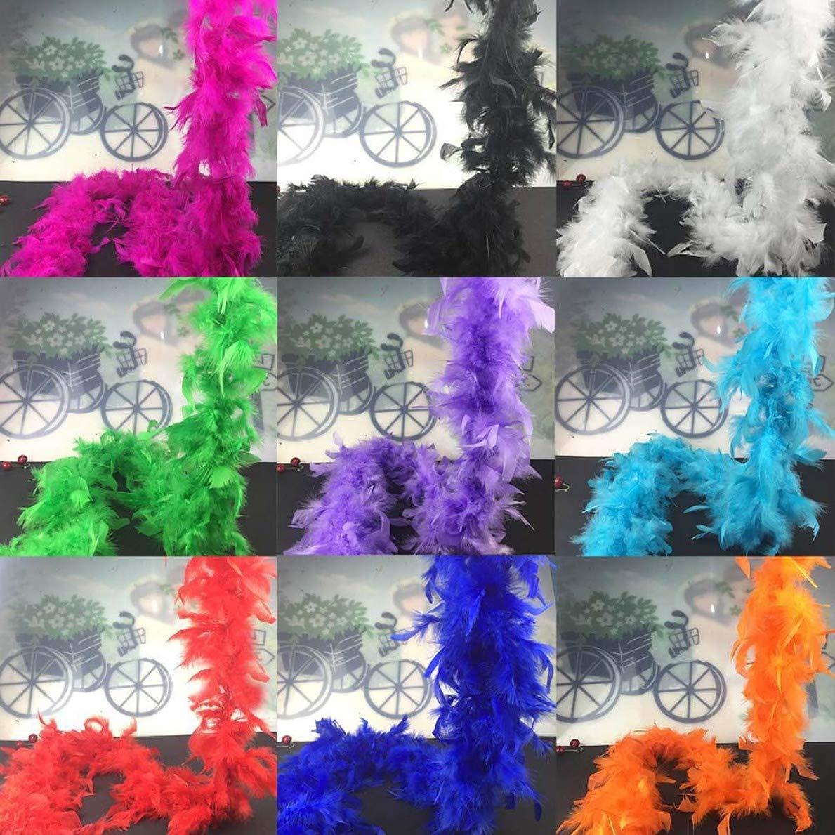 Disfraz Estilo HasiDun 2 m 11 Colores Disfraz 11 Tiras de Boda Tira de Plumas de Boa sin Defectos para Disfraz 2 m Estilo m/ágico para decoraci/ón del hogar Colores de Fiesta