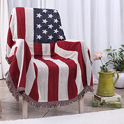 Amazon American Flag Throw Blanket Tassels Tapestry Woven Unique Stars And Stripes Throw Blanket