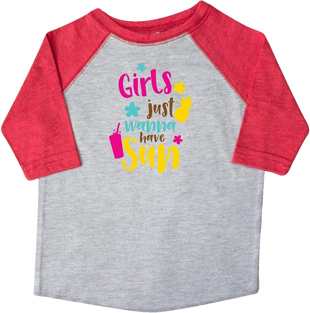 Pineapple inktastic Girls Just Wanna Have Sun Cocktail Toddler T-Shirt