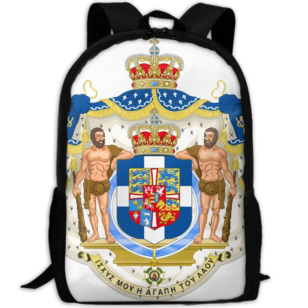 ZQBAAD Royal Coat Of Arms Of Greece Luxury Print Men And Women's Travel Knapsack