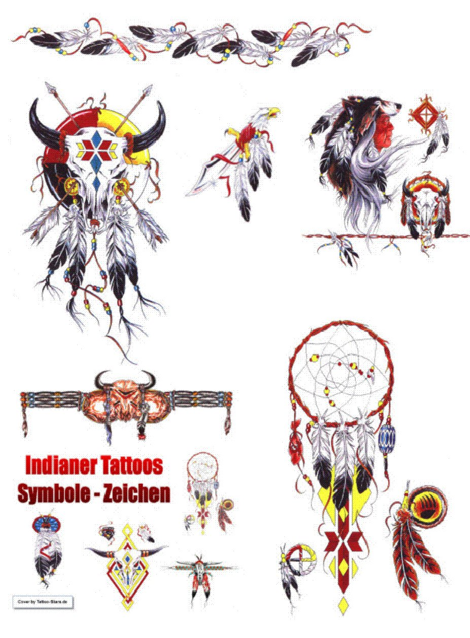 Indianer Symbole Zeichen Tattoo Vorlagen Amazon De Tattoo