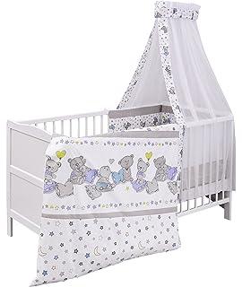 Urra Komplett Kinderbett Luca 70x140 Cm Kiefer Weiss
