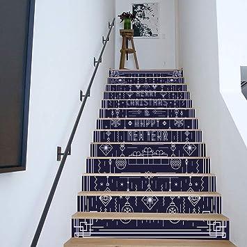 Paso Escalera Pegatinas Adhesivo de escalera, adorno azul 3D - decoración de pared de moda extraíble e impermeable Pegatinas de pared (Size : 100 * 18cm*13pcs): Amazon.es: Bricolaje y herramientas