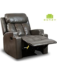 Grey Living Room Chairs. BONZY Recliner Chair Contemporary  Living Room Chairs Amazon com