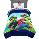 "Franco Kids Bedding Soft Microfiber Comforter, Twin Size 64"" x 86"", Super Mario"
