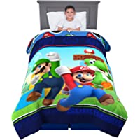 Franco Kids Bedding Soft Comforter, Twin Size 64€ x 86€, Super Mario